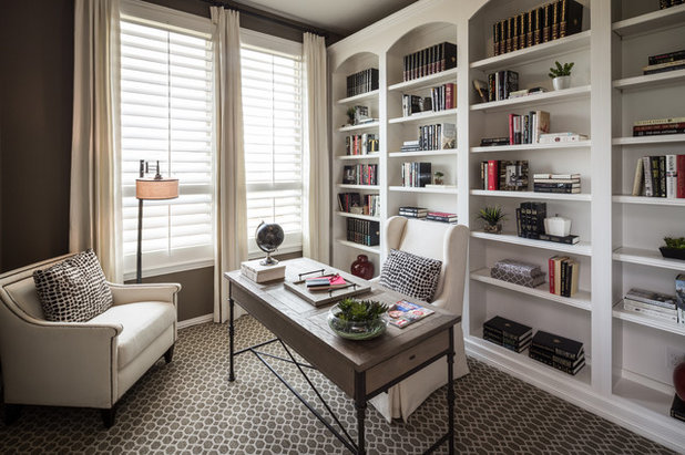 Transitional Home Office by Highland Homes
