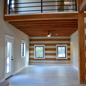 Grandview TX log cabin home