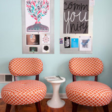 Eclectic Home Office by Birdhouse Interior Design