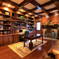 Traditional Home Office by Derrick Architecture