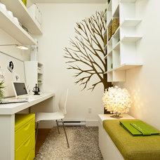 Contemporary Home Office by Calvert Design Studio