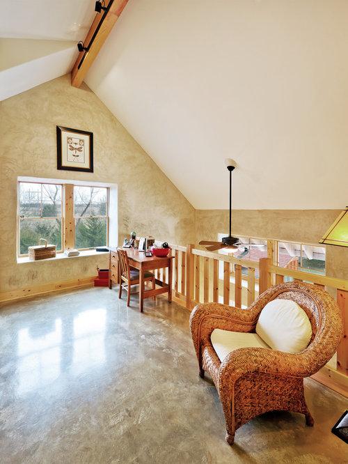 Cottage loft home design ideas pictures remodel and decor for Beach house loft design