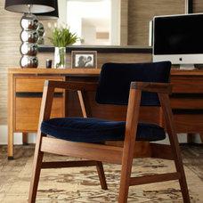 Contemporary Home Office by Urrutia Design