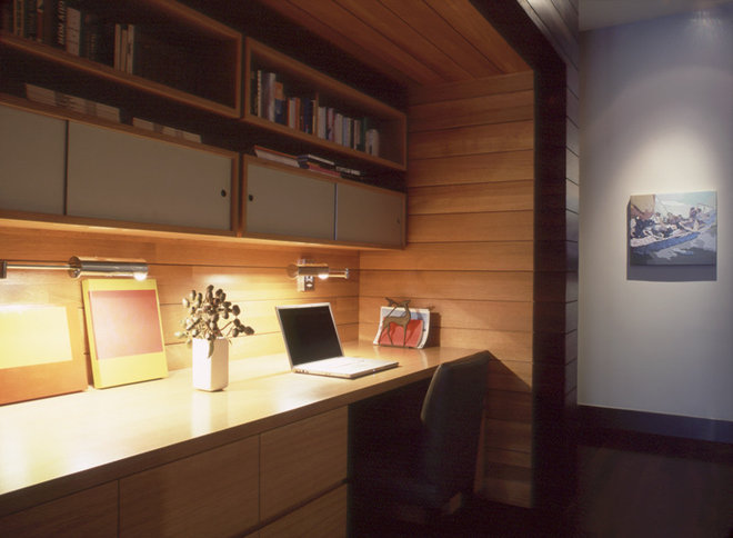 Contemporary Home Office by Dufner Heighes Inc