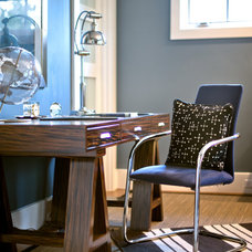 Contemporary Home Office by Roughan Interior Design