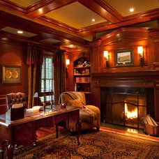 Traditional Home Office by Diane Gerardi Design