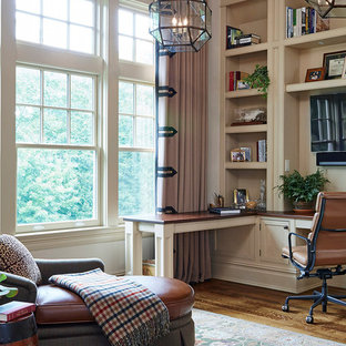 Example Of A Classic Home Office Design In New York