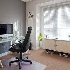 Contemporary Home Office Grey and white office