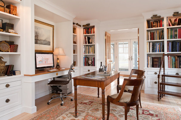 Traditional Home Office by Scot Samuelson, AIA/NCARB
