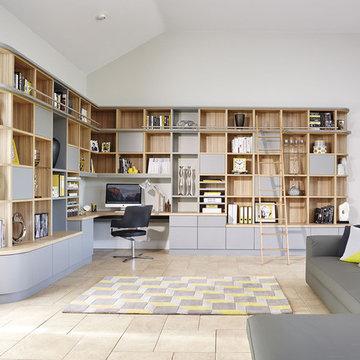Grey Modern Library & Study