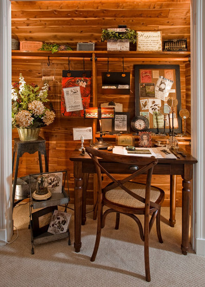 Traditional Home Office by Kathy Appel, ASID