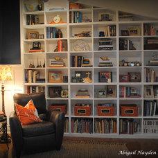 Beach Style Home Office by Abigail Hayden Interior Design