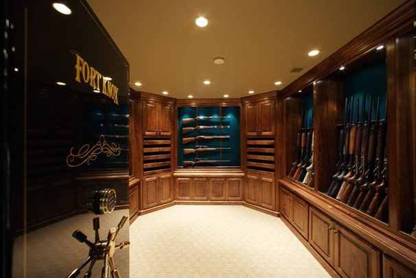 Man cave trophy room gun room for Home gun room