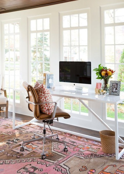 Transitional Home Office by Studio McGee