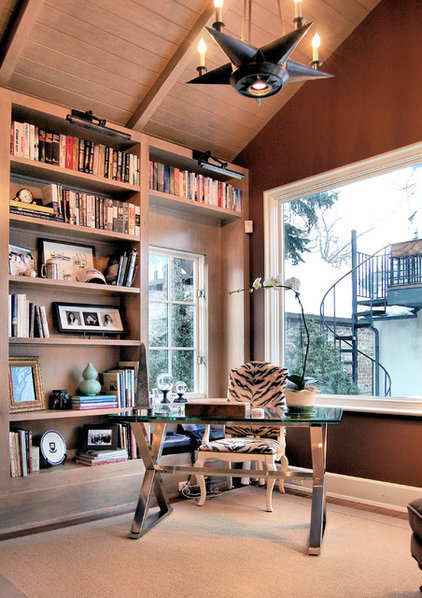 Traditional Home Office by Michael Abraham Architecture