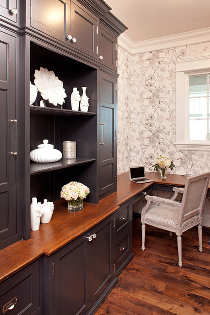 Traditional Home Office by Eskuche Design