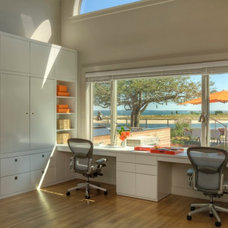 Beach Style Home Office by David Howell Design