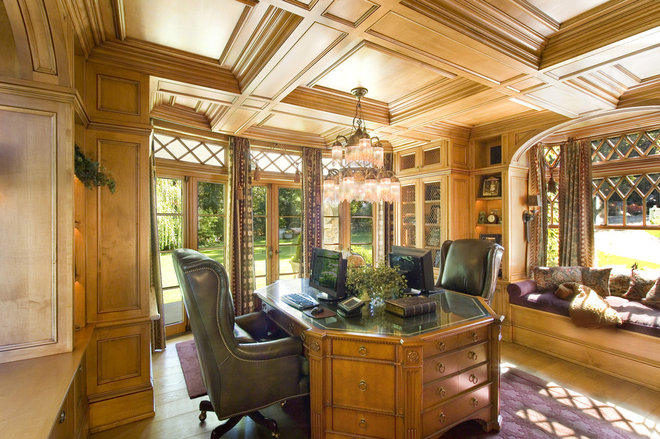Traditional Home Office by Oak Hill Architects
