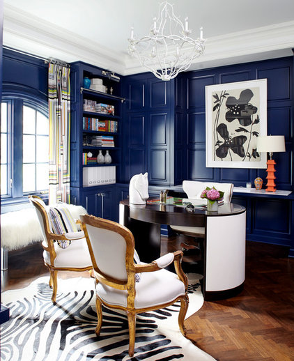 Eclectic Home Office by Fun House Furnishings & Design
