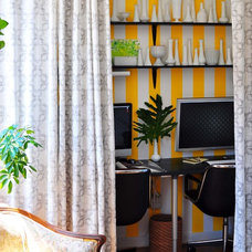 Eclectic Home Office by Scheer & Co.