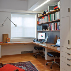 Contemporary Home Office by Ofer Wolberger, LTD.