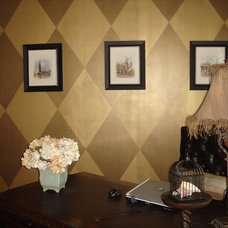 Traditional Home Office by Bella Tucker Decorative Finishes