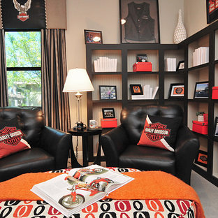 オーランドのエクレクティックスタイルのおしゃれなホームオフィス・仕事部屋の写真