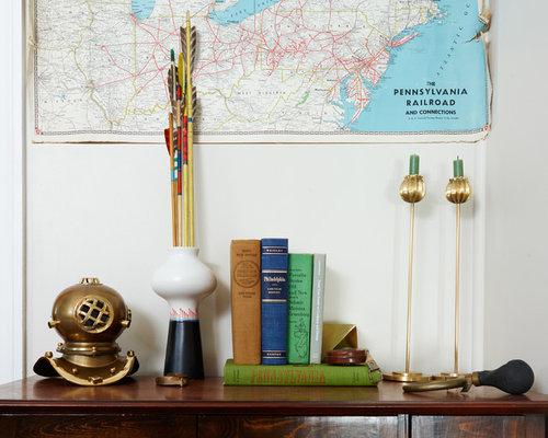 Arbeitszimmer mit schieferboden und gr nen w nden ideen for Einrichtungsideen lesezimmer