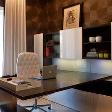 Contemporary Home Office by Britto Charette Interiors - Miami Florida