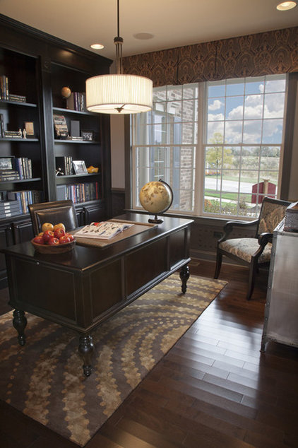 Traditional Home Office by Mary Cook