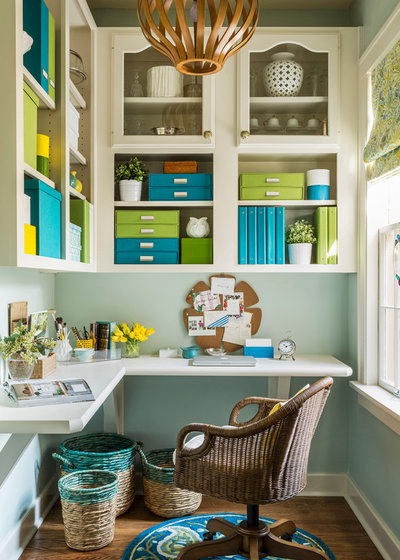 Transitional Home Office by Kathryn J. LeMaster Art & Design
