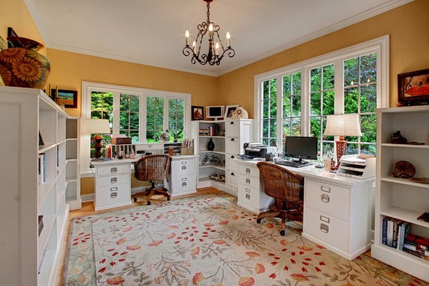Farmhouse Home Office by Ty Evans, Windermere Real Estate/BI, Inc.