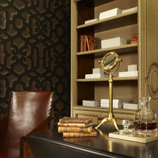 Eclectic Home Office by Dunlap Design Group, LLC