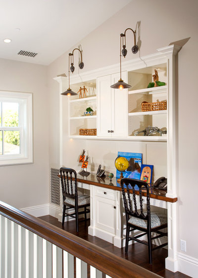 Transitional Home Office by Legacy Custom Homes
