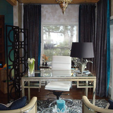 Eclectic Home Office HGTV'd  Home Office