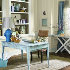 Traditional Home Office by Sherwin-Williams