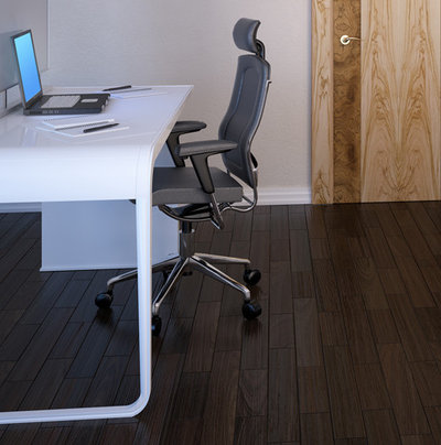 modern home office by koydol inc best flooring for home office