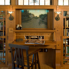 Craftsman Home Office by OLSON LEWIS + Architects