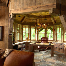 Rustic Home Office by Murphy & Co. Design