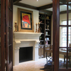 Traditional Home Office by GABRIEL HOME BUILDERS INC