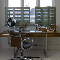 Eclectic Home Office by Weatherwell Elite - Aluminum Shutters