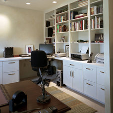 Contemporary Home Office by CG&S Design-Build