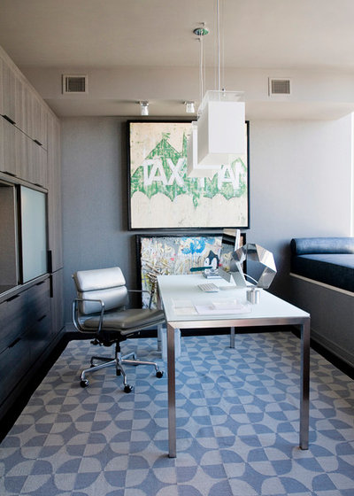 Contemporary Home Office by The Englander Building Company