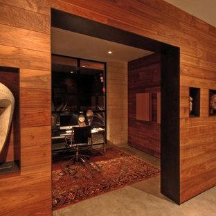 Свежая идея для дизайна: кабинет в стиле модернизм - отличное фото интерьера