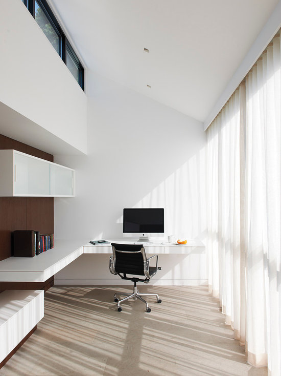 modern home office design ideas, remodels & photos