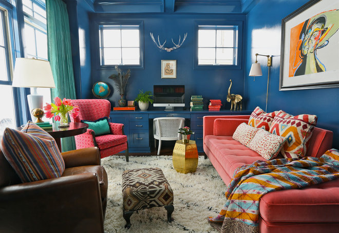 Eclectic Home Office by Summer Thornton Design, Inc