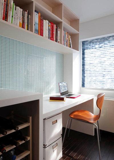 コンテンポラリー ホームオフィス・仕事部屋 by James Lambiasi Architect