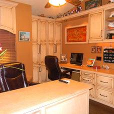 Mediterranean Home Office by Inndesign Inc