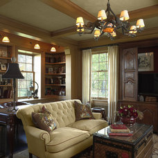 Traditional Home Office by Erotas Building Corporation