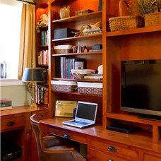 Traditional Home Office by Merry Powell Interiors